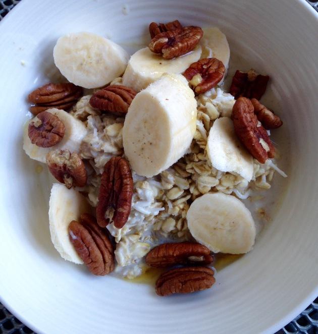 soaked oats with banana